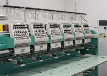 One of our 6-Head Embroidery Machines